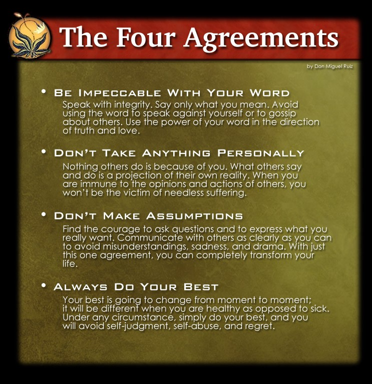 The Four Agreements A Review Mens Complete Life