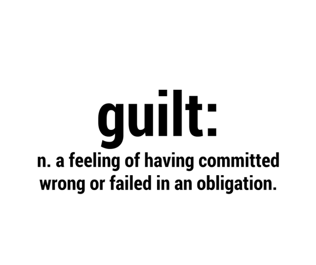 When someone feels guilty