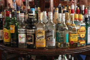 many bottled of alcohol